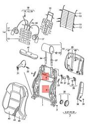 Genuine Audi Vw A3 Cabriolet Cable For Backrest Release 1k3881272a