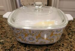 Corning Ware 1970 Floral Bouquet 2nd Edition P Series Casserole P 1-1/2-b