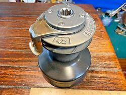 One Only Lewmar 42 St Self Tailing 2 Speed Winch W/alloy Jaw/crown Top Cap