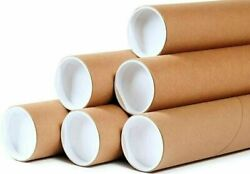 50 - 2 X 24 Round Cardboard Shipping Mailing Tube Tubes With End Caps