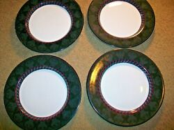Set Of 4 Dansk Amish Shadow 9 Salad Plates Quiltings Portugal Excellent