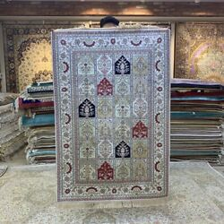 Yilong 3and039x5and039 Four Seasons Hand Knotted Silk Rug Porch Home Interior Carpet 227b