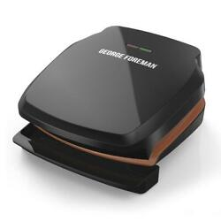 George Foreman 2-serving Copper Color Classic Plate Grill Electric Indoor Grill