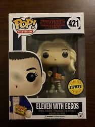 Funko Pop Eleven With Eggos In Wig 421 Chaseandnbsplimited Edition Stranger Things