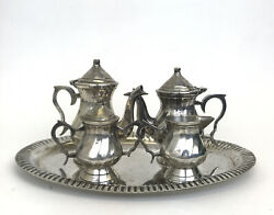 International Sliver Co Tea Set Of 5pcs Silverplated Handmade Collectible India