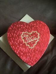 Vintage Heart Valentine Candy Box In Orig Box