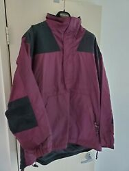 Sneaux Menand039s Purple And Black Board Gear Vented Hooded Jacket Parka Coat Sz L