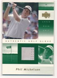 2002 Upper Deck Phil Mickelson Golf Glove Hobby Only Rookie Pm-g