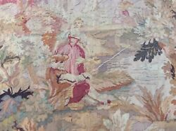 Antique Hand Loomed Belgian Tapestry Wall Hanging Circa 1920 In Belgium