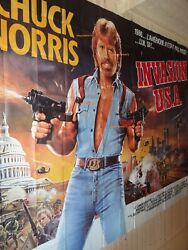 Chuck Norris Invasion U.s.a Poster French Giant Billboard Original 8 Panels