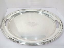 24 3/8 In - Sterling Silver International Sterling Antique Courtship Oval Tray