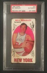 Bill Bradley Signed Autographed 1969 Topps Rookie Card Auto Psa Dna Rc Hof