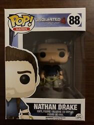 Funko Pop Nathan Drake Blue Shirt 88 Uncharted 4 Video Games Fast Shipping