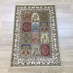 Yilong 2and039x3and039 Handwoven Silk Carpet Four Seasons Classic Traditional Rug Y142a