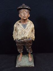 Rare Antique Vintage Bradly And Hubbard 16 Whistling Jim Cast Iron Door Stop