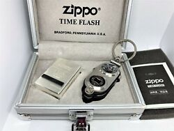 Zippo Limited Edition Explorer Compass Lighter And Time-flash Survival 5 Tool Set