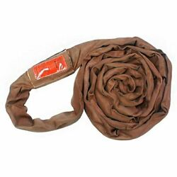 Polyester Lift Sling Endless Round Sling Brown 54000 Lbs Vertical 12and039