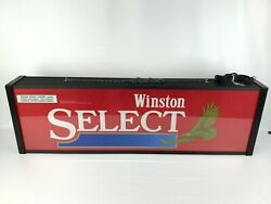 1990's Winston Select Cigarette Lighted Hanging Advertisement Sign 4 Foot