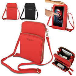 Women Touch Screen Shoulder Bag Wallet Phone Purse Crossbody Leather Pouch Case $13.98