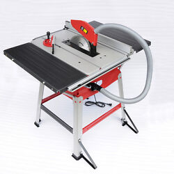Sto 1800w Table Saw 110v 10 Blade Stand Sliding Extension Bench Top Woodworking