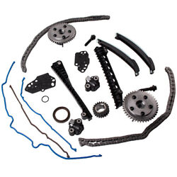 Timing Chain Kit+cam Phasers+cover Gasket 04-10 For Ford F150 Lincoln 5.4l 3v