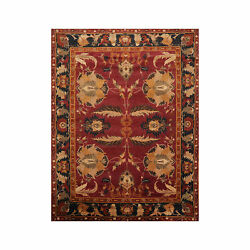 8and0399 X 11and0395and039and039 Hand Knotted Tibetan 100 Wool Arts And Craft Oriental Area Rug Rust
