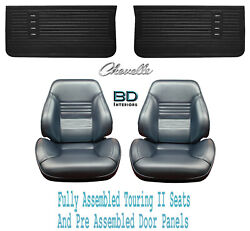 1967 Chevelle And El Camino Touring Ii Bucket Seats And Door Panels Pre Assembled