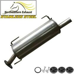 Stainless Steel Exhaust Muffler With Hangers + Bolts Fit 07-2011 Versa Hatchback