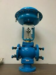 Never Used Warren Controls 29n 3-way Pneumatic Actuated Valve Control Valves