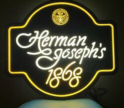 1980 Coors Herman Joseph's Beer For Adolph Herman Joseph Coors Lighted Sign