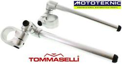 Domino Tommaselli 52mm 3 Way Adjustable Clip Ons To Fit Ajs Bikes