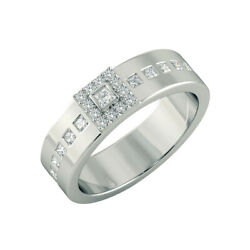 Solid 950 Platinum 0.55 Ct Real Diamond Anniversary Menand039s Band Size 9 11 12 13
