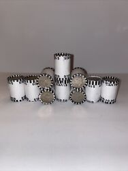 10 Unsearched Rolls Of Kennedy Half Dollars, Fed Sealed, 100 Fv