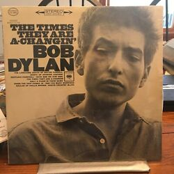 Bob Dylan Lp The Times They Are A Changin' Columbia Cs 8905 Sealed Early Press