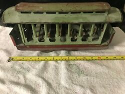 Antique Toys Dayton Friction Drive Trolley 1909