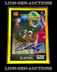 Chase Claypool 2020 Score Gold Zone Refractor Auto Sp Rookie Rc Stamped 1/50 1/1