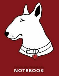 English Bull Terrier Dog Notebook Like New Used Free shipping in the US