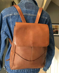 Hobo International Brown Leather Backpack Excellent $95.00