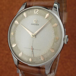 N.o.s. Vintage Omega - Big Size 36mmØ - Two Tones Textured Dial - From 1954'