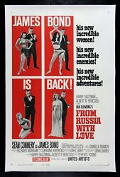 From Russia With Love ✯ Cinemasterpieces Original Movie Poster James Bond 1963