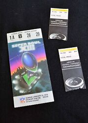 Steelers Fans Collectible Ticket Lot- 1979 Super Bowl Stub + 2 1975 Season Afc