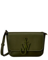 Jw Anderson Braided Anchor Leather Crossbody Women#x27;s Green $298.99