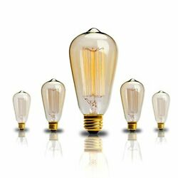 Edison Bulb 60w Vintage Antique Incandescent Light Bulbs Dimmable Classic Home