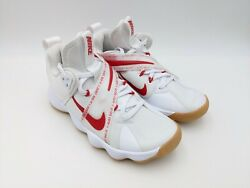 Nike React Hyperset Se Volleyball Shoes White Red Gum Ci2956-160 Womens Size 5