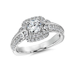 Real 1.30 Ct Round Diamond Engagement Ring 18k Solid White Gold Band Size 7 8 9