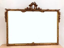 Antique Wall Hanging Mirror 40quot; x 30quot; Gold Gilt Local Pickup — PRICE REDUCED