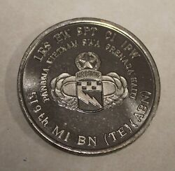 519th Military Intelligence Battalion Airborne Silver Haiti Army Challenge Coin