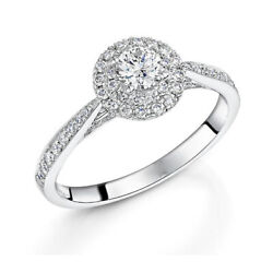 Christmas Sale Real 1.20 Ct Diamond Engagement Ring Fine 18k White Gold Band 7 8
