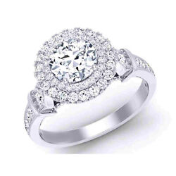 Solid 950 Platinum 0.80 Carat Real Diamond Engagement Solitaire Ring Size 7 8 9