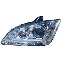 Headlight Left Ford Focus Ii 2 Type Da3 Year 04-08 With Light Curves H1+h7 A33